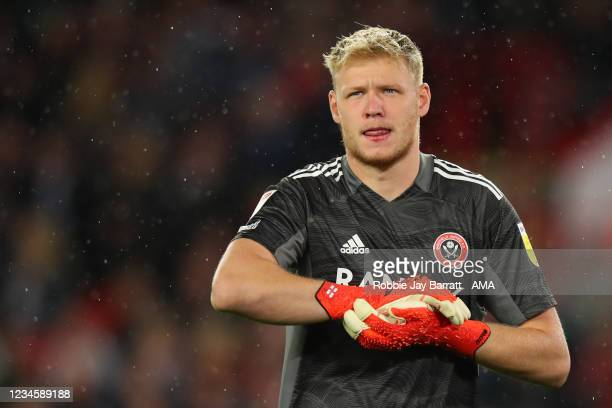 Aaron Ramsdale of Sheffield United during the Sky Bet Championship match between Sheffield United and Birmingham City at Bramall Lane on August 7,...