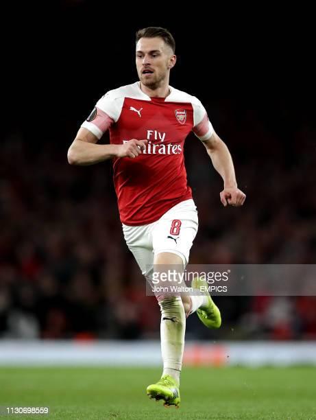 Aaron Ramsey Arsenal Arsenal v Rennes UEFA Europa League Round of 16 Second Leg Emirates Stadium
