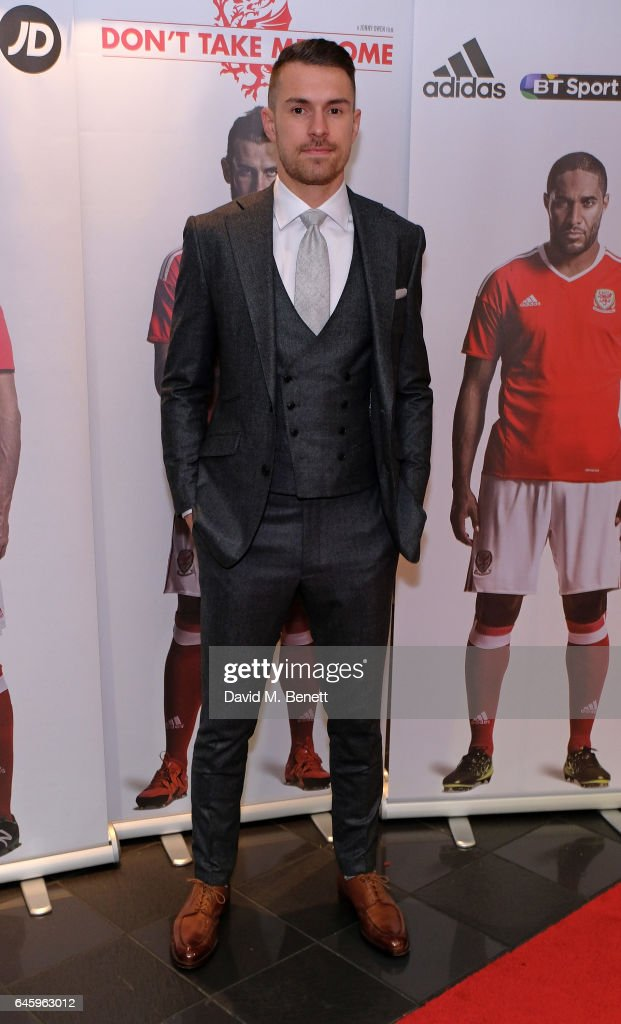 Aaron Ramsey attends the UK Premiere of 'Don't Take Me Home' on February 27, 2017 in London, England.