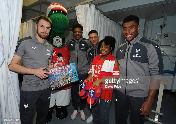 Aaron Ramsey, Kieran Gibbs, Alex Iwobi And Chuba Akpom Of
