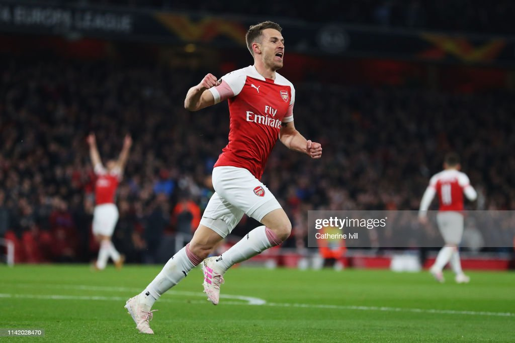Arsenal v S.S.C. Napoli - UEFA Europa League Quarter Final : First Leg : News Photo