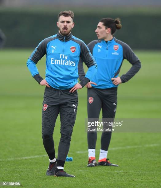 Aaron Ramsey of Arsenal during a training session at London Colney on January 13 2018 in St Albans England