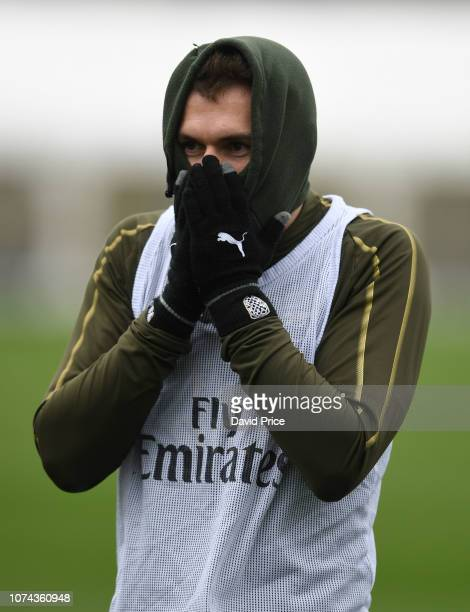 Aaron Ramsey of Arsenal during the Arsenal Training Session on December 18 2018 in St Albans England
