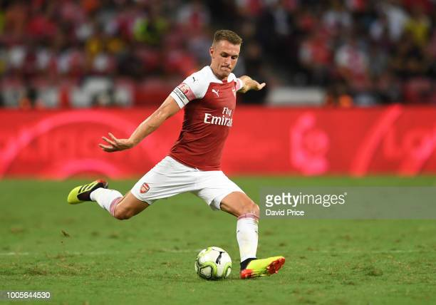 b5010b207 Aaron Ramsey of Arsenal during the International Champions Cup 2018 match  between Club Atletico de Madrid