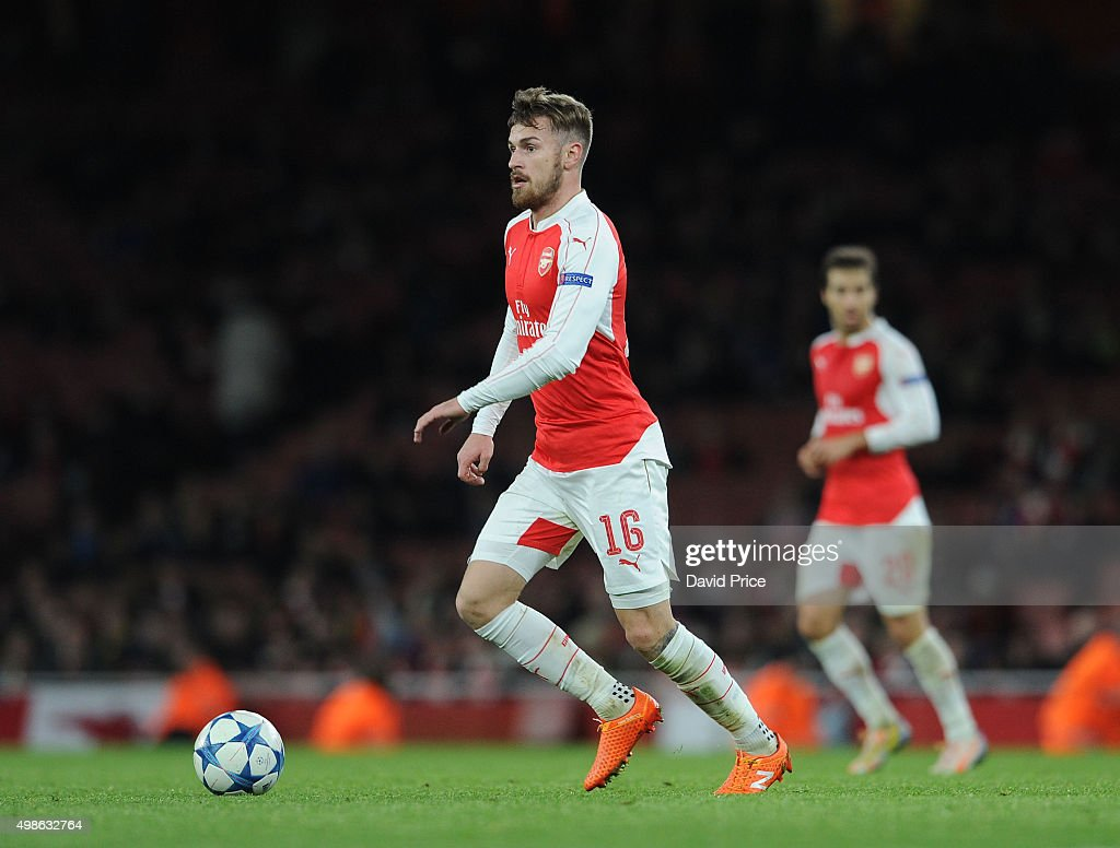 Aaron Ramsey of Arsenal during the match between Arsenal and Dinamo Zagreb in the UEFA Champions League on November 24, 2015 in London, United Kingdom.