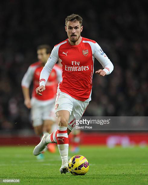 Aaron Ramsey of Arsenal during the match between Arsenal and Southampton in the Barclays Premier League at Emirates Stadium on December 3 2014 in...