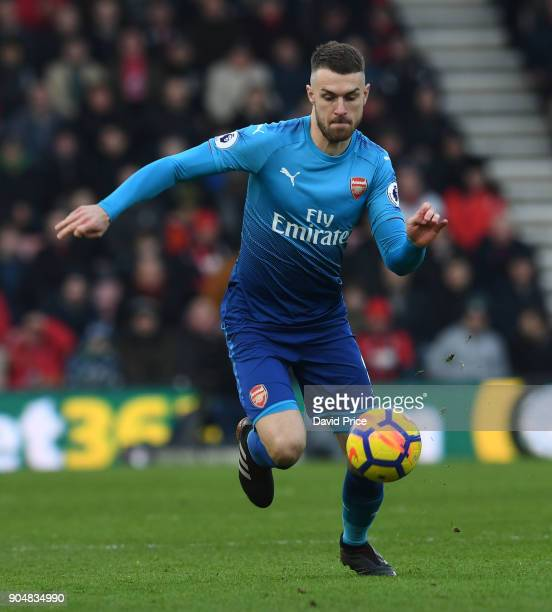 Aaron Ramsey of Arsenal during the Premier League match between AFC Bournemouth and Arsenal at Vitality Stadium on January 14 2018 in Bournemouth...