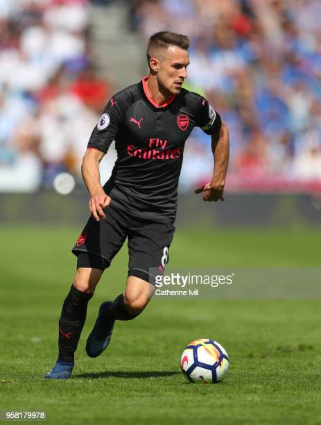 Aaron Ramsey of Arsenal during the Premier League match between Huddersfield Town and Arsenal at John Smith's Stadium on May 13 2018 in Huddersfield...