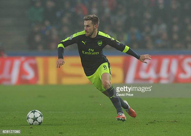Aaron Ramsey of Arsenal during the UEFA Champions League match between FC Basel and Arsenal at St JakobPark on December 6 2016 in Basel BaselStadt