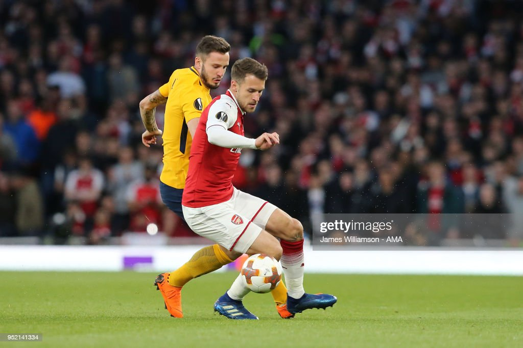 Arsenal FC v Atletico Madrid - UEFA Europa League Semi Final Leg One : News Photo