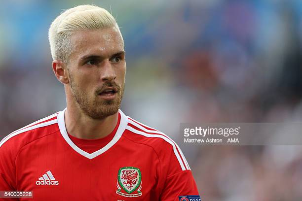 Aaron Ramsey of Wales during the UEFA EURO 2016 Group B match between Wales and Slovakia at Stade Matmut Atlantique on June 11 2016 in Bordeaux France