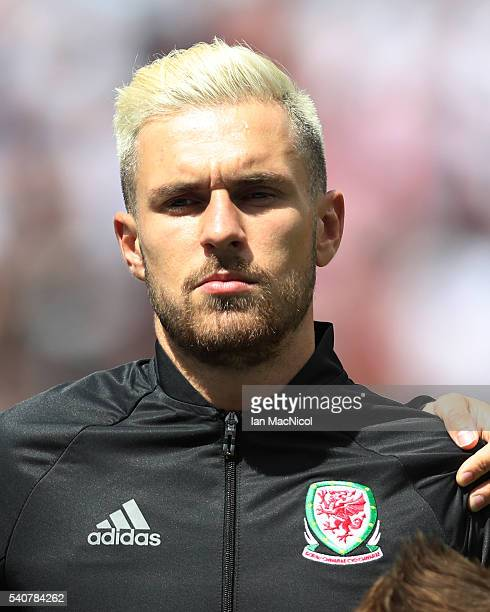 Aaron Ramsey of Wales looks on during the UEFA EURO 2016 Group B match between England v Wales at Stade BollaertDelelis on June 16 2016 in Lens France
