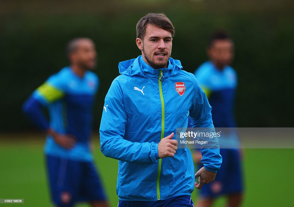 Arsenal Training Session & Press Conference : News Photo