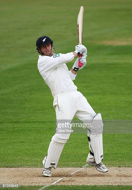 Aaron Redmond of New Zealand in action during day three of the match between between the England Lions and New Zealand at The Rose Bowl on May 10...