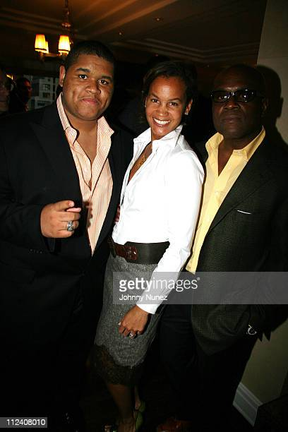Aaron Reid Erica Reid and Antonio LA Reid during The Ethnic Foundation Honoring Hosted By Russell Simmons April 25 2006 at Private Home of Antonio LA...
