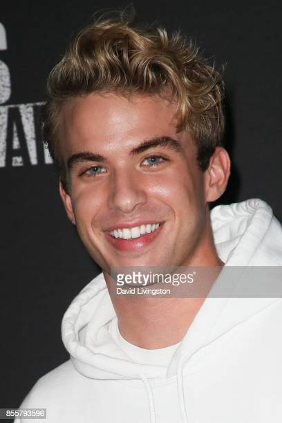 Aaron Rhodes attends the Knott's Scary Farm and Instagram's Celebrity Night at Knott's Berry Farm on September 29 2017 in Buena Park California