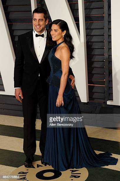 Aaron Rodgers and Olivia Munn attend the 2015 Vanity Fair Oscar Party hosted by Graydon Carter at Wallis Annenberg Center for the Performing Arts on...
