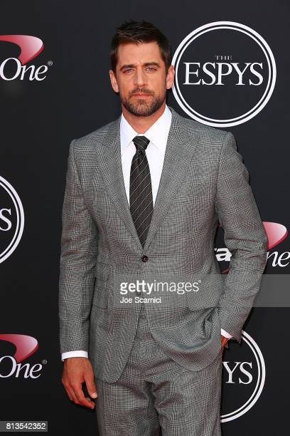 Aaron Rodgers at the 2017 ESPYS at Microsoft Theater on July 12 2017 in Los Angeles California