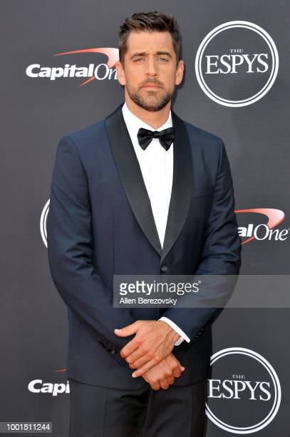 Aaron Rodgers attends The 2018 ESPYS at Microsoft Theater on July 18, 2018 in Los Angeles, California.