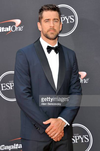 Aaron Rodgers attends The 2018 ESPYS at Microsoft Theater on July 18 2018 in Los Angeles California