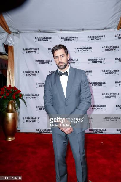 Aaron Rodgers is seen at the Barnstable Brown Gala on May 3 2019 in Louisville Kentucky