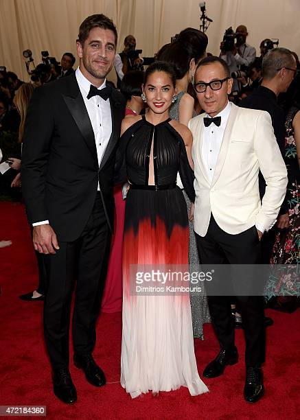 Aaron Rodgers Olivia Munn and Gilles Mendel attend the 'China Through The Looking Glass' Costume Institute Benefit Gala at the Metropolitan Museum of...