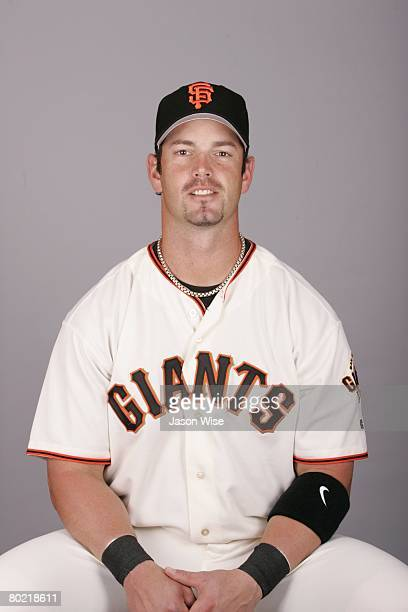 Aaron Rowand of the San Francisco Giants poses for a portrait during photo day at Scottsdale Stadium on February 27 2008 in Scottsdale Arizona