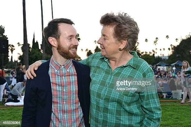 Aaron Ruell and Sandy Martin attend the Sundance NEXT FEST screening of 'Napoleon Dynamite' at Hollywood Forever on August 7 2014 in Hollywood...