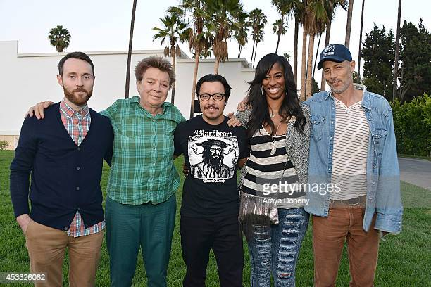 Aaron Ruell Sandy Martin Efren Ramirez Shondrella Avery and Jon Gries attend the Sundance NEXT FEST screening of 'Napoleon Dynamite' at Hollywood...