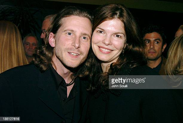 Aaron Ryder producer and Jeanne Tripplehorn during The Moguls Cast and Crew Screening at Writer's Guild Theatre in Los Angeles CA United States