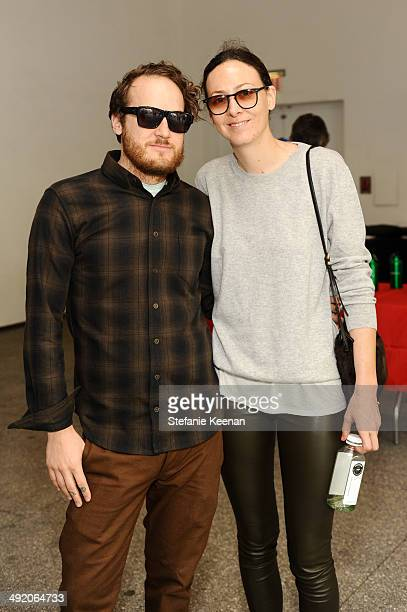 Aaron Sandnes and Maggie Kayne attend Hammer Museum KAMP 2014 on May 18 2014 in Los Angeles California
