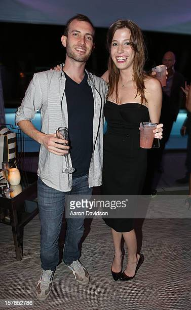 Aaron Schreiber and Diana Douglas pose at SLS Hotel on December 6 2012 in Miami Beach Florida