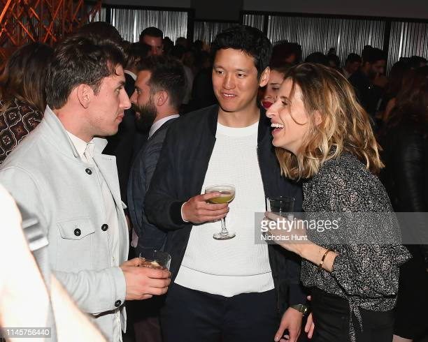 Aaron Schroeder and Jeff Chan attend the 2019 Tribeca Film Festival AfterParty for Plus One hosted by Bulleit Bourbon at the Bulleit 3D Printed at...