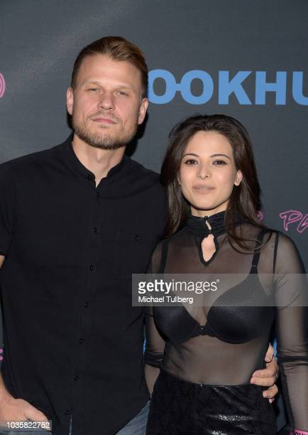 Aaron Schwartz and guest attend the premiere party for LookHu's Slasher Party at ArcLight Hollywood on September 18 2018 in Hollywood California