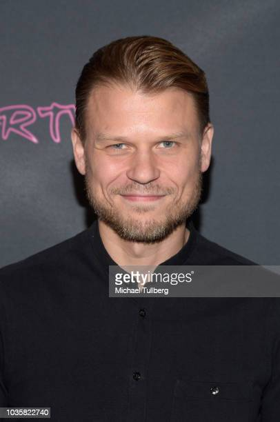 Aaron Schwartz attends the premiere party for LookHu's Slasher Party at ArcLight Hollywood on September 18 2018 in Hollywood California