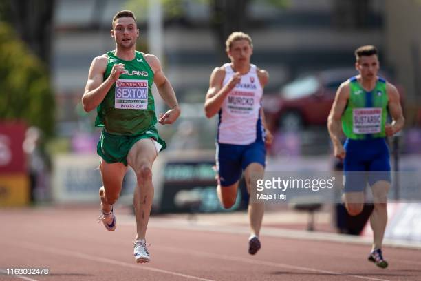 Aaron Sexton of Ireland competes during 200m Men Round 1 on July 19, 2019 in Boras, Sweden.