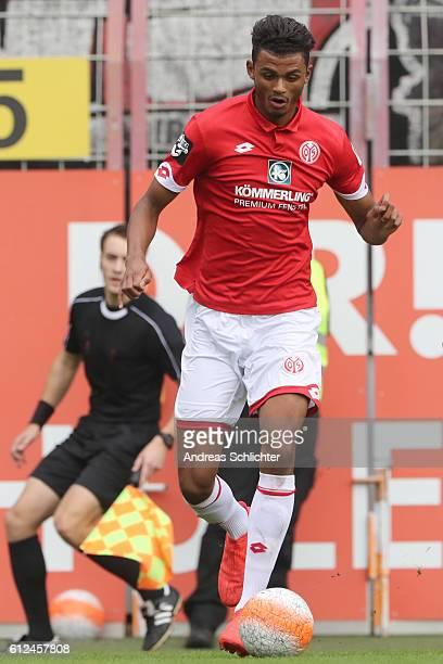 Aaron Seydel of FSV Mainz 05 II during the Third League match between 1FSV Mainz 05 II and RW Erfurt at Bruchweg Stadium on October 2 2016 in Mainz...