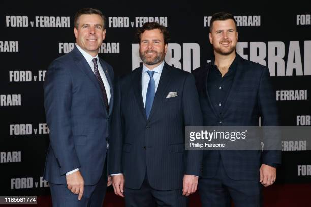 Aaron Shelby Shawn Shelby and Randall Shelby attends the premiere of FOX's Ford V Ferrari at TCL Chinese Theatre on November 04 2019 in Hollywood...