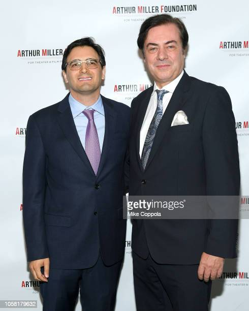 Aaron Siegel and John Gore attends the 2018 Arthur Miller Foundation Honors at City Winery on October 22 2018 in New York City