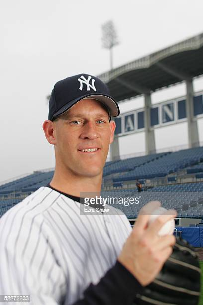 Aaron Small of the New York Yankees poses for a portrait during Yankees Photo Day at Legends Field on February 25 2005 in Tampa Florida