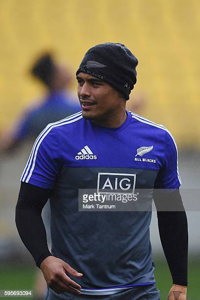 Aaron Smith during the New Zealand All Blacks Captain's Run at Westpac Stadium on August 26 2016 in Wellington New Zealand
