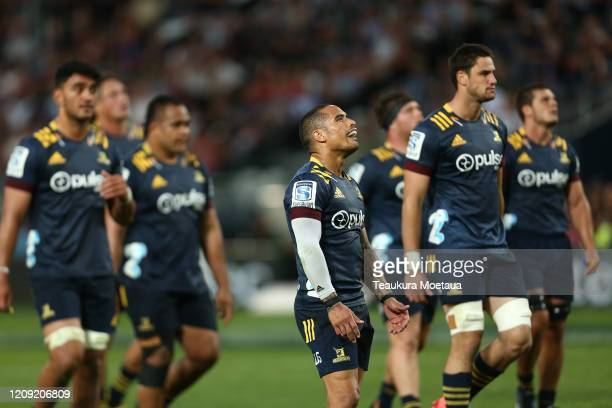 Aaron Smith of the Highlanders looks on during the round five Super Rugby match between the Highlanders and the Rebels at Forsyth Barr Stadium on...