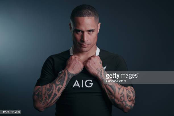 Aaron Smith poses during a New Zealand All Blacks portrait session on September 06, 2020 in Wellington, New Zealand.