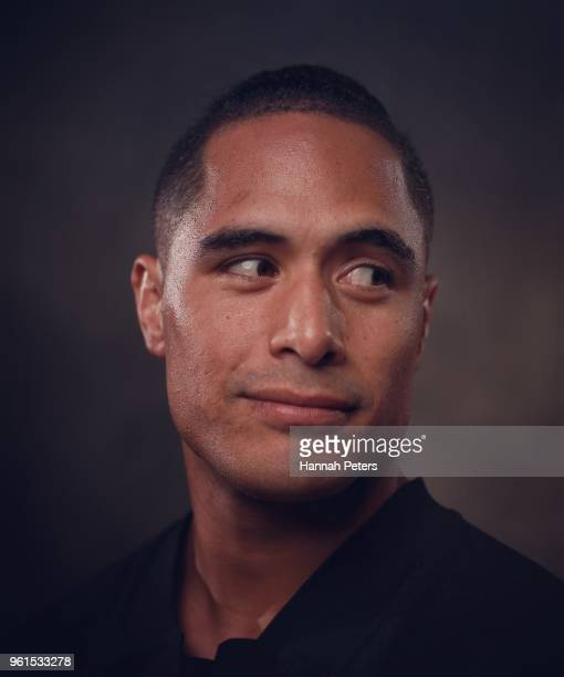 Aaron Smith poses during a New Zealand All Blacks portraits session on May 21 2018 in Auckland New Zealand