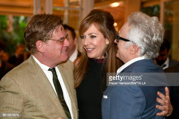 Aaron Sorkin Allison Janney and Bradley Whitford attend The BAFTA Los Angeles Tea Party at Four Seasons Hotel Los Angeles at Beverly Hills on January...