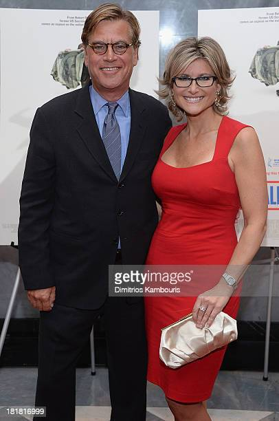 Aaron Sorkin and Ashleigh Banfield attend Inequality For All New York Premiere at Paley Center For Media on September 25 2013 in New York City