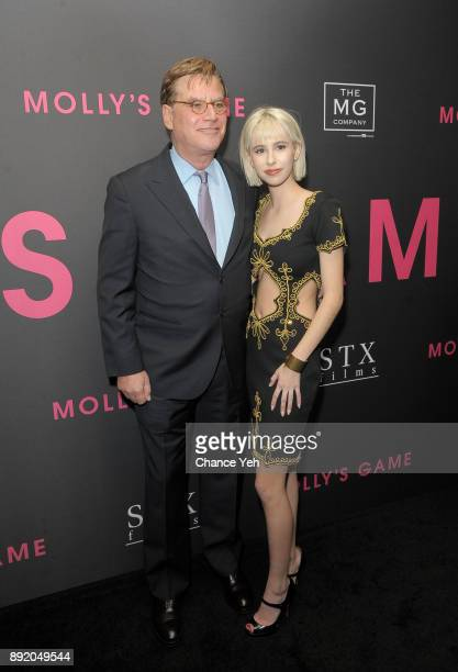 Aaron Sorkin and daughter Roxy Sorkin attend 'Molly's Game' New York premiere at AMC Loews Lincoln Square on December 13 2017 in New York City