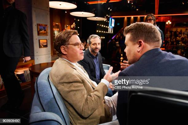 Aaron Sorkin and Judd Apatow chat with James Corden during 'The Late Late Show with James Corden' Wednesday January 10 2018 On The CBS Television...