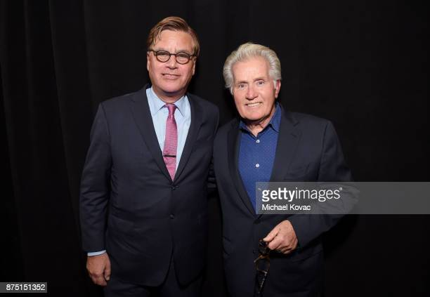 Aaron Sorkin and Martin Sheen attend the screening of 'Molly's Game' at the Closing Night Gala at AFI FEST 2017 Presented By Audi on November 16 2017...