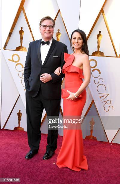 Aaron Sorkin and Molly Bloom attend the 90th Annual Academy Awards at Hollywood Highland Center on March 4 2018 in Hollywood California